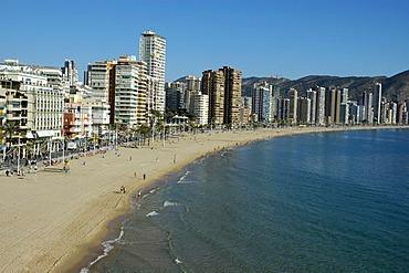 Playa de Levante, Benidorm, Costa Blanca, Spain