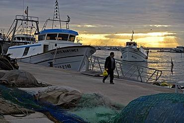 Fishing boats in the port of Santa Pola, Costa Blanca, Spain