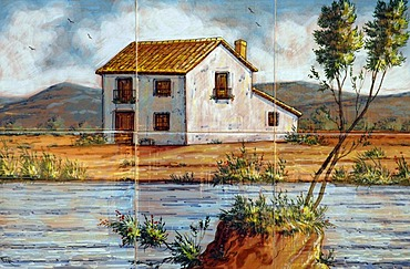House at the river, Spanish tiles, azulejos, Altea, Costa Blanca, Spain