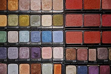 Tester drawer, makeup, make-up, powder, eye shadow, utensils, Makeup, cosmetics, beauty, beauty care