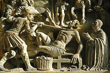 Biblical relief, St. Paulus Cathedral, Muenster, North Rhine-Westphalia, Germany