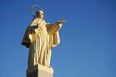 Statue, San Pascual, Oritao, Monforte del Cid, Alicante, Costa Blanca, Spain