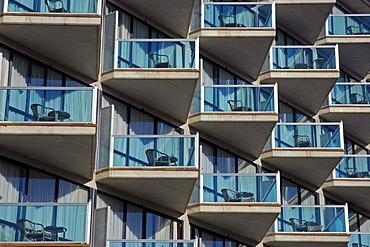 Hotel front, Albir, Altea, Costa Blanca, Spain
