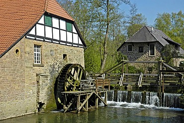 Oil mill, Brake Castle, Weserrenaissance Museum, Lemgo, North Rhine-Westphalia, Germany