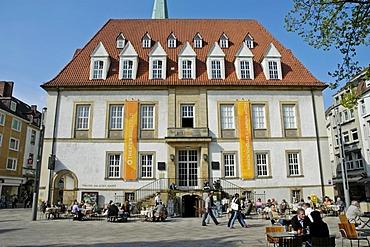 Theater at the old market square, Bielefeld, North Rhine-Westphalia, Germany