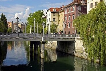 Cobbler's bridge, Ljubljana, Slovenia