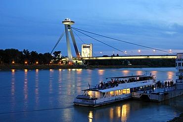 New bridge at night, Novy most, Bratislava, Slovakia