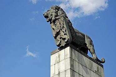 Lion, heraldic animal of the former Czechoslovakia, Bratislava, Slovakia