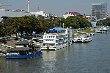 Floating hotel on the Danube, Bratislava, Slovakia