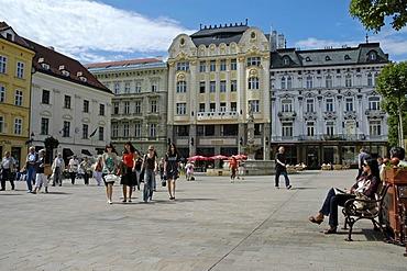 Main square, Hlavne namestie, Bratislava, Slovakia