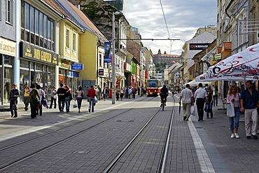 Shopping street Obchodna, Bratislava, Slovakia