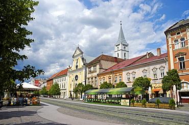 Main Street with the Franciscan Church, Kosice, Slovakia, Slovak Republic