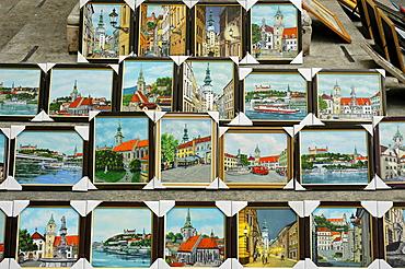 Souvenirs, paintings, Bratislava, Slovakia