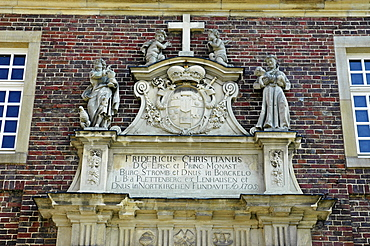 Memorial tablet Fridericus Christianus, castle Nordkirchen, Muensterland, North Rhine-Westphalia, Germany