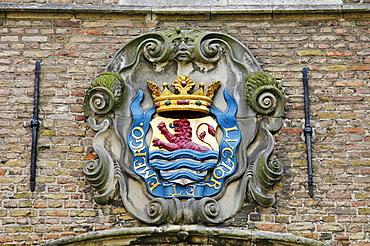 Coat of arms, Middelburg Zeeland Holland the Netherlands