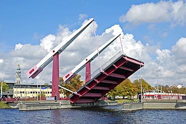 Schroebrug, movable bridge, Middelburg Zeeland Holland the Netherlands
