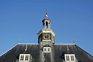Roof with clock tower, Vlissingen, Zeeland, Holland, the Netherlands
