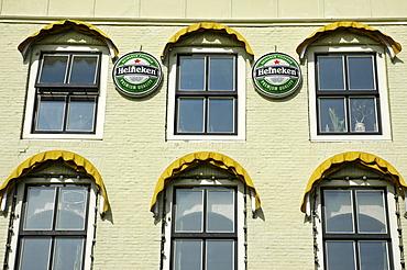 Heineken Beer ads, Vlissingen, Zeeland, Holland, the Netherlands