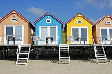 Beach huts, Vlissingen, Zeeland, Holland, the Netherlands