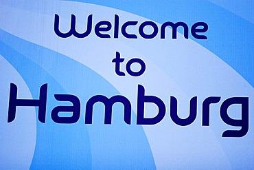 Emblem soccer football worldchampionship 2006 welcome city Hamburg Germany