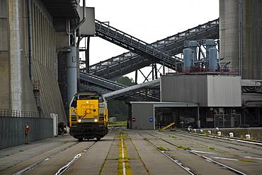 Shunter in a grain warehouse, Gent, Flanders, Belgium