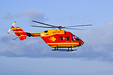 Eurocopter Medicopter BK 117 in flight