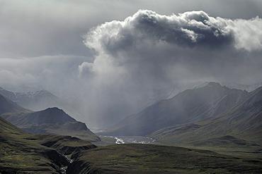Thunderstorm in the Denali National Park, Alaska, USA, North America
