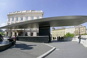 A modern part of the Albertina which houses one of the largest collections of graphic art worldwide Vienna Austria