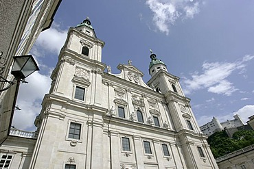 Cathedral of Salzburg viewed from the Domplatz Austria