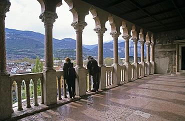 Loggia on castle Castello di Buonconsiglio in city of Trient Italy