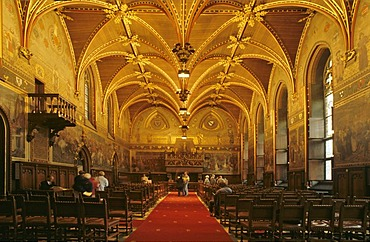 Hall in townhall of Brugge Belgium