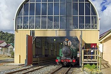Abt railway and railway station Queenstown Tasmania Australia