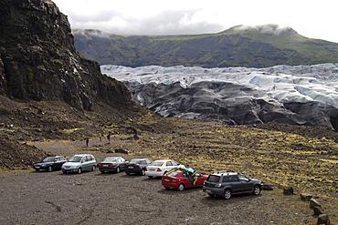 Glacier tongue of the Svinafellsjokull near the Skaftafell National Park Iceland