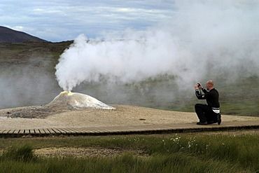 The geothermal zone of Hveravellir at the road Kjolur F35 Iceland