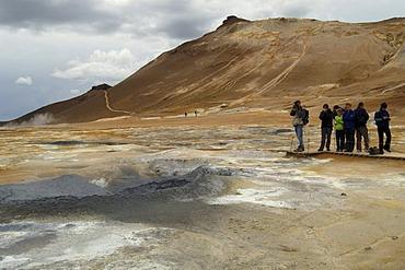 Solfatara and boiling mud at the mountain Namafjall Iceland