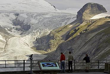 Viewing terrace in front of glacier Pasterze Franz Josefs Hohe Carinthia Austria