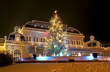 The casino in the town Baden illuminated for Christmas Lower Austria