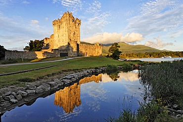 Ross castle at the Lough Lane, Killarney National Park, Killarney, Kerry, Ireland