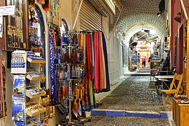 Shops in the center of town, Thira, Santorini, Greece