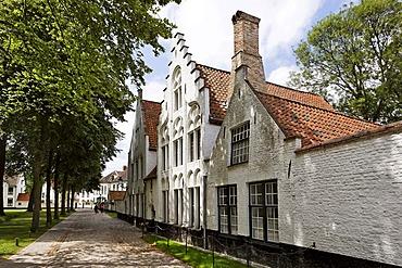 Houses in the Beginen yard, Brugge, Flanders, Belgium