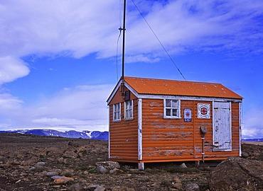 Emergency hut at the highland route Kaldidalur, Iceland