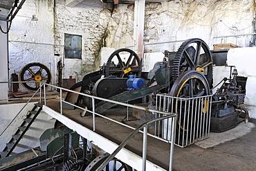 Old machinery in the sugar cane factory, Calhetta, Madeira, Portugal