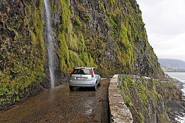 The old coast road 101, the locals call the road the car washing street, Madeira, Portugal