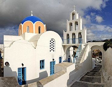 Main church Panagia, Vothonas, Santorini, Greece