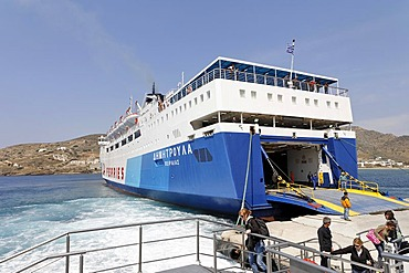 Ferry, Naxos, Greece