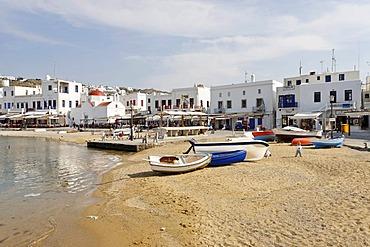 Fishing boats at the beach, Myconos, Greece