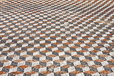 Mosaic floor with geometric design , Delos, Greece