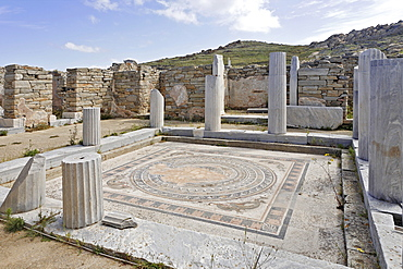 Atrium of House of the Dolphins , Delos, Greece