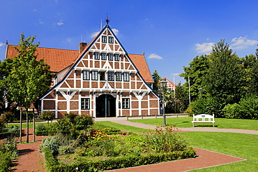 Town hall, Jork, Altes Land, Lower Saxony, Germany, Europe