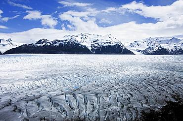 Glacier, Patagonian ice cap, Torres del Paine National Park, Patagonia, Chile